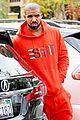 drake wears orange sweats for lunch 15