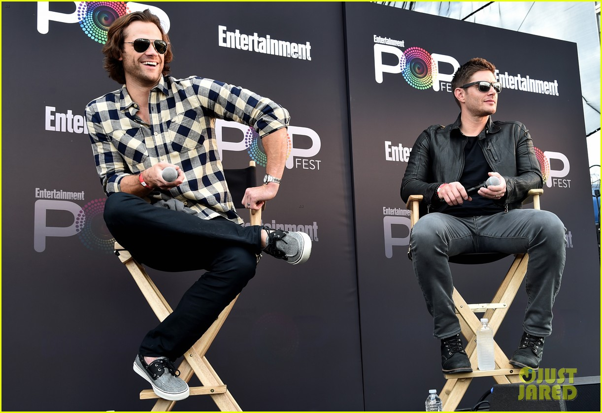 jared padalecki and jensen ackles bring supernatural to ew  popfest 033796959