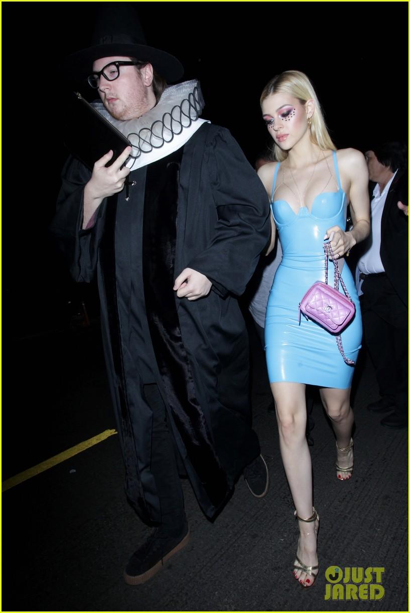 Nicola Peltz Wears Skin-Tight Latex Dress for Halloween!: Photo ...