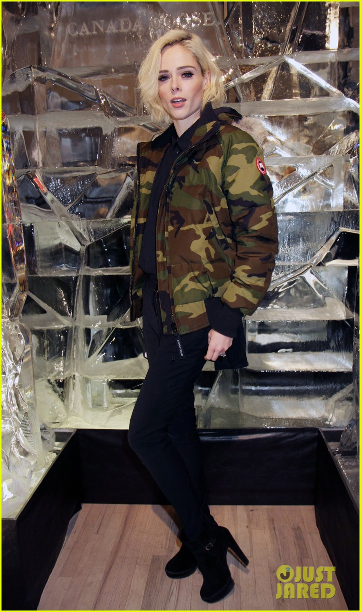 ansel elgort canadian goose launch nyc 053810848
