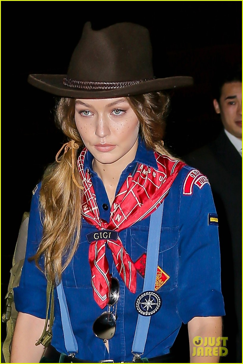 Gigi Hadid Heads to Taylor Swift's Halloween Party Dressed as a ...