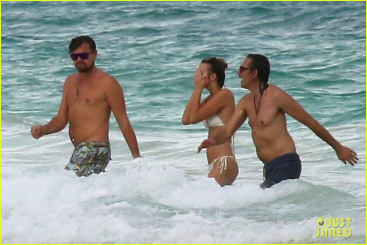 leo dicaprio hits the beach shirtless 053827887
