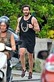 jake gyllenhaal muscles up for new years eve beach jog 12