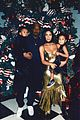kanye west kim kardashian christmas photo 01