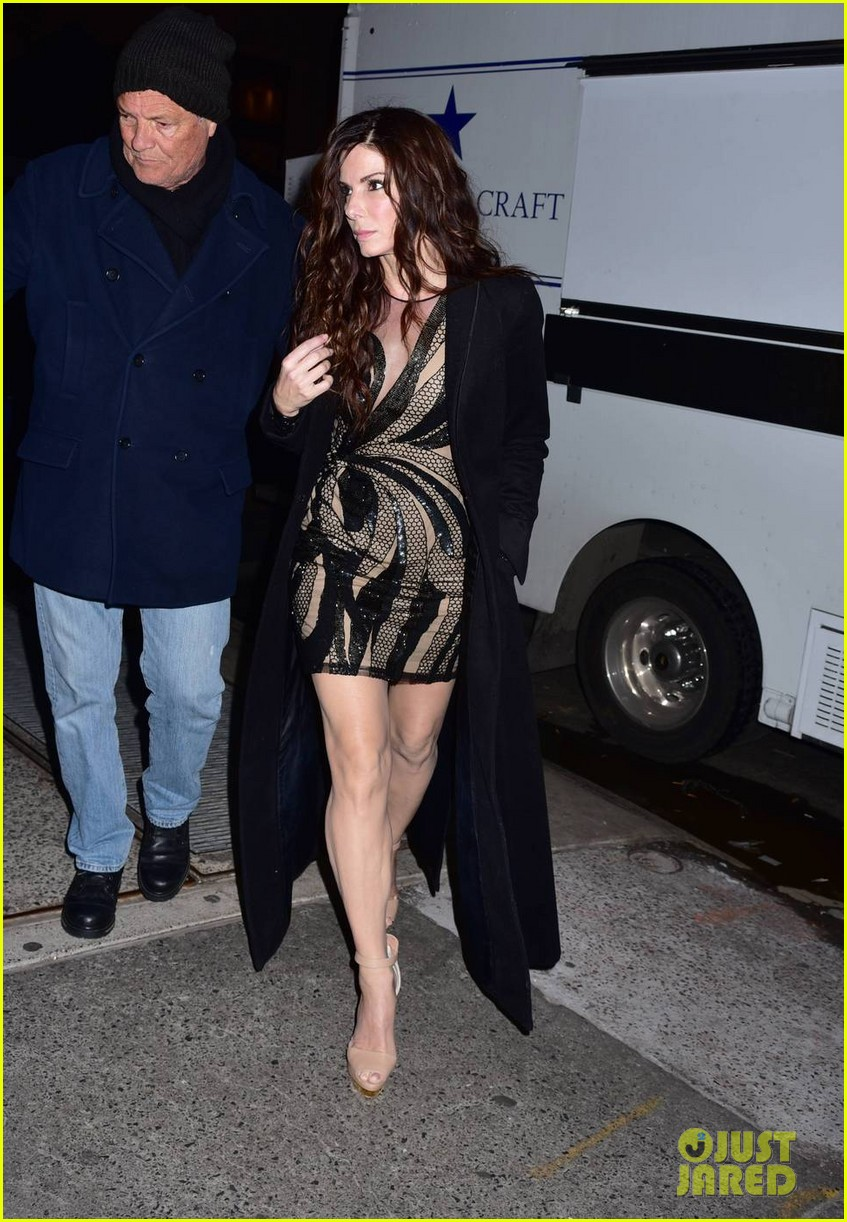 Full Sized Photo of sandra bullock rocks sexy mini dress ... Sandra Bullock Museum
