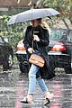 hilary duff braves los angeles rain storm 04