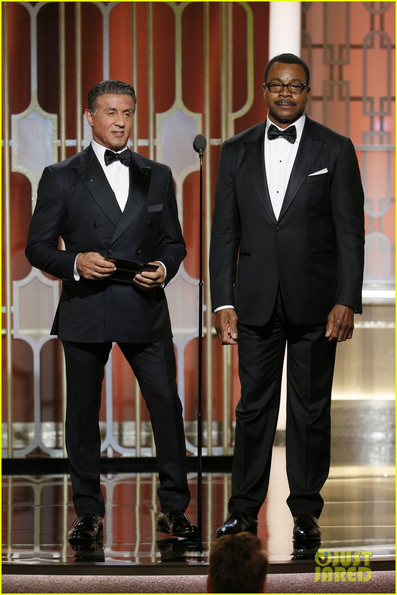 sylvester stallone carl weathers golden globes 2017 033839485