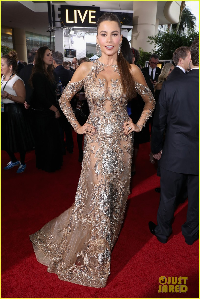 Sofia Vergara\'s Golden Dress Steals the Show at Golden Globes: Photo ...