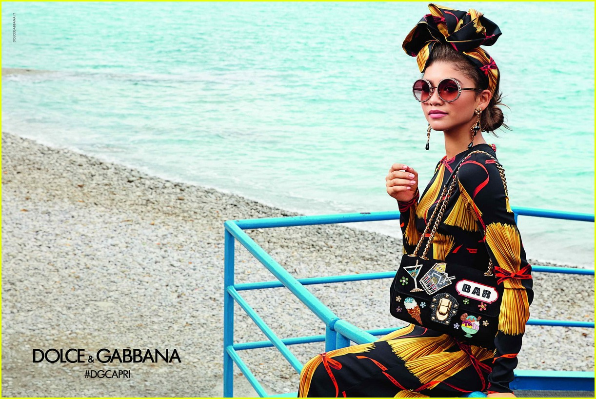 zendaya looks stunning in festive new dolce and gabbana womens campaign 023837262