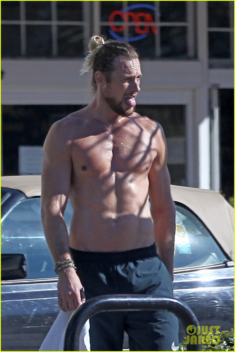 Full Sized Photo of gabriel aubry bares ripped body in hot ... Ryan Gosling