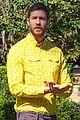 calvin harris rocks a yellow shirt during a photoshoot 03