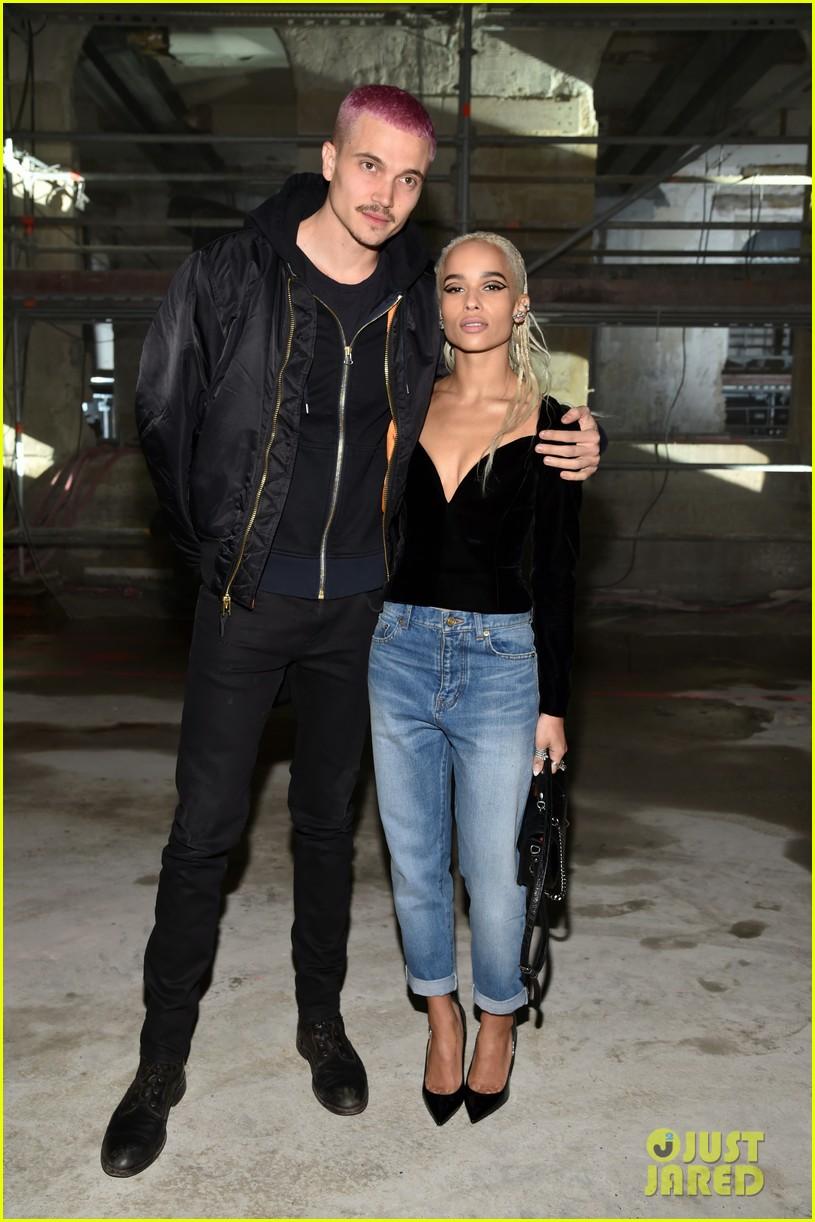 Zoe Kravitz Amp Boyfriend Karl Glusman Couple Up At Saint