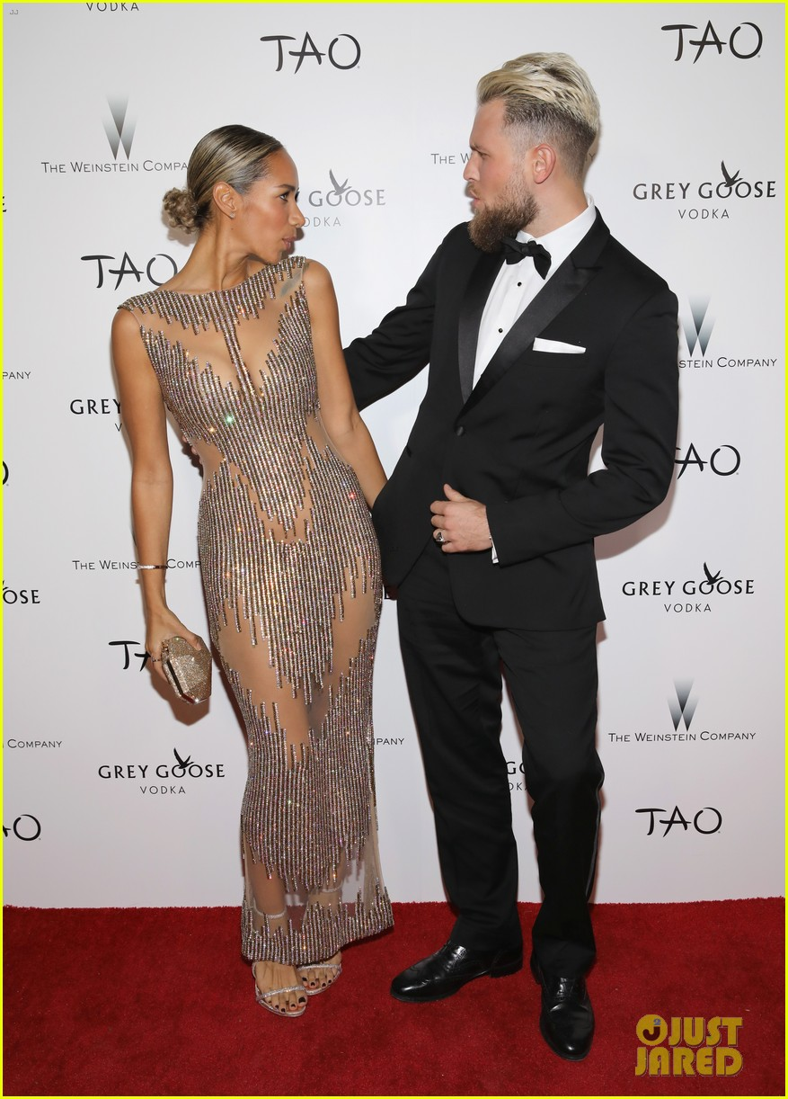 leona lewis boyfriend dennis jauch show off love at weinstein companys oscars party 023867766