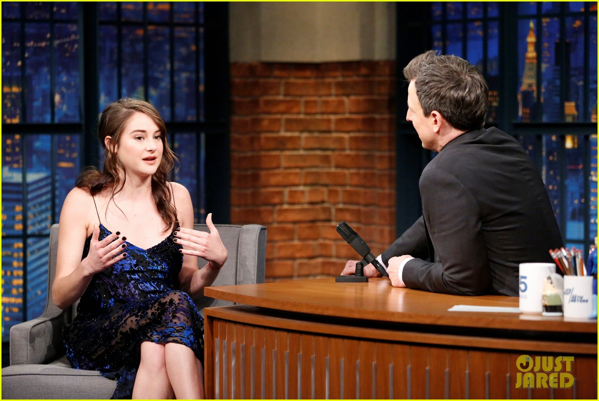 shailene woodley late night seth meyers 013860726