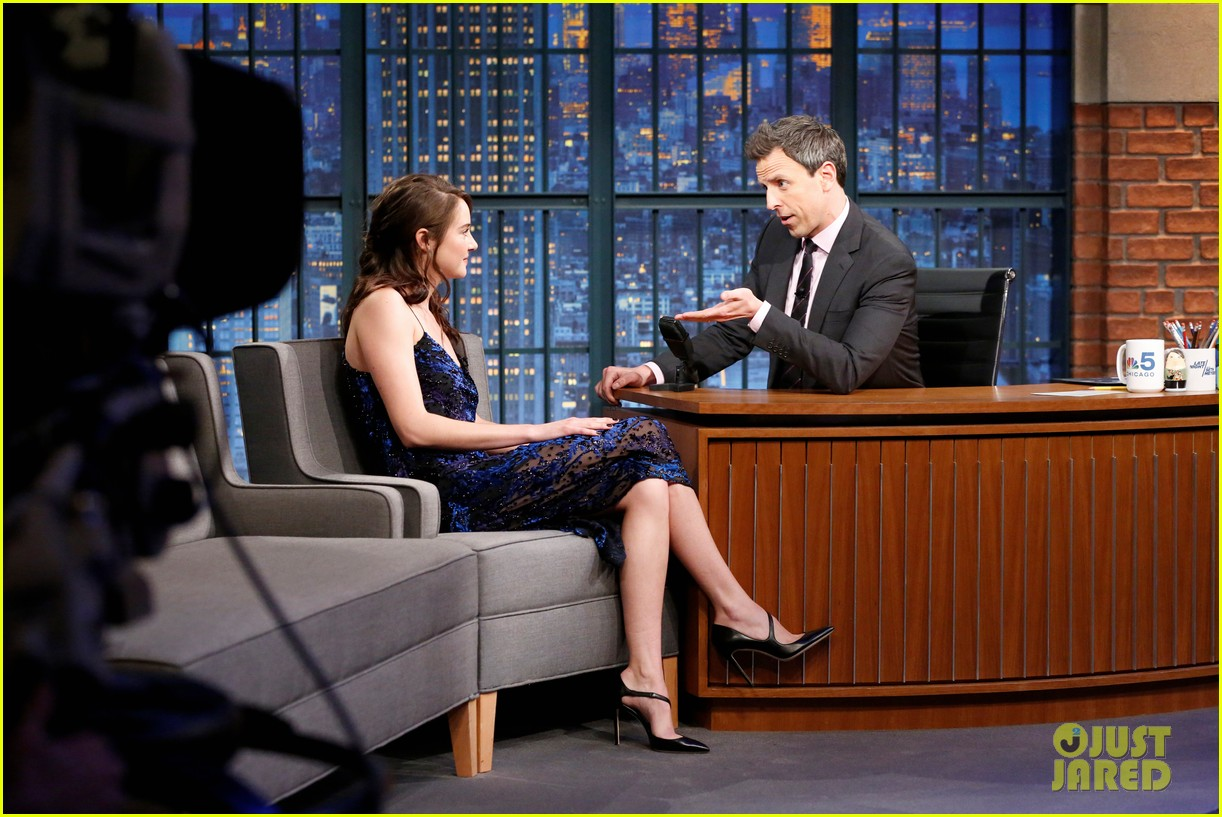shailene woodley late night seth meyers 023860727