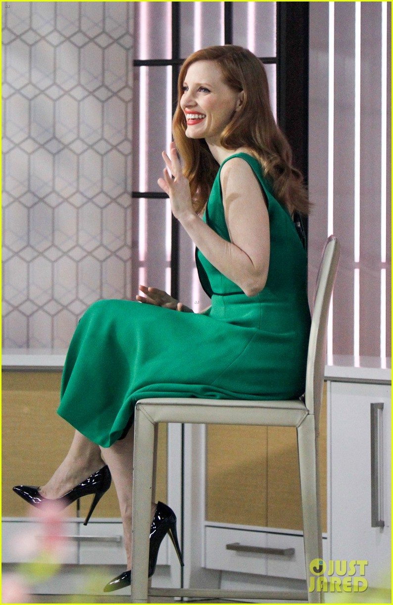 jessica chastain today show green dress 02