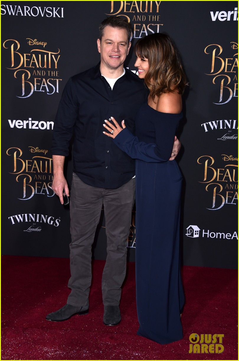 matt damon wife luciana enjoy date night at beauty beast premiere 023869393
