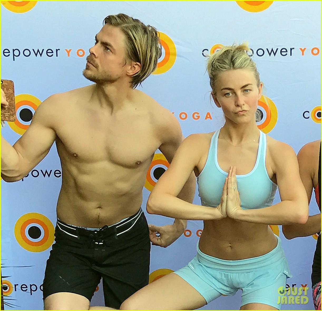 derek hough shirtless yoga julianne 023872961