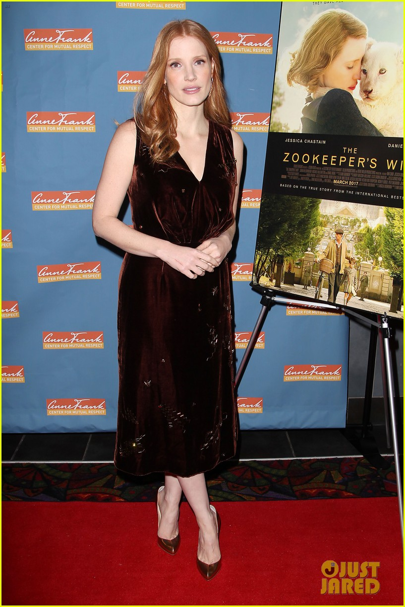 jessica chastain zookeepers wife screening nyc 043876213