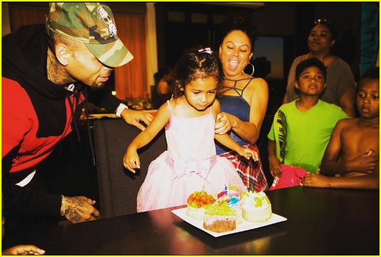 chris brown celebrates royalty third birthday pool party 023906798