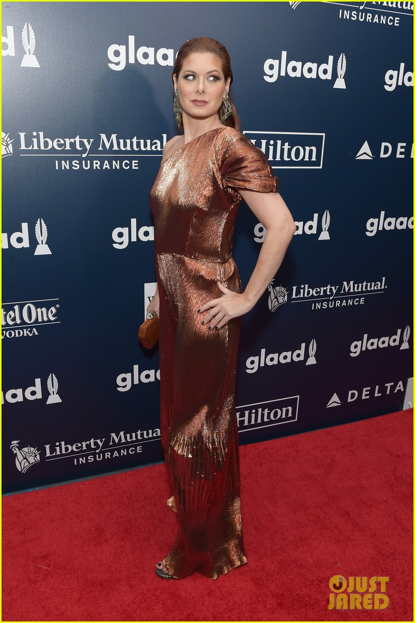 andrew rannells debra messing more arrive in style for glaad awards023895811