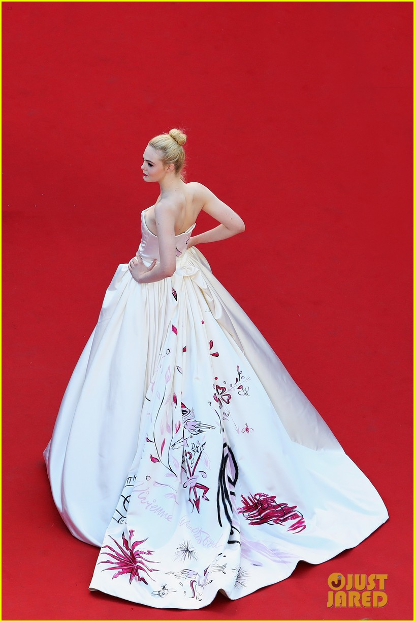 elle fanning dress details lily rose depp cannes opening ceremony 163900412