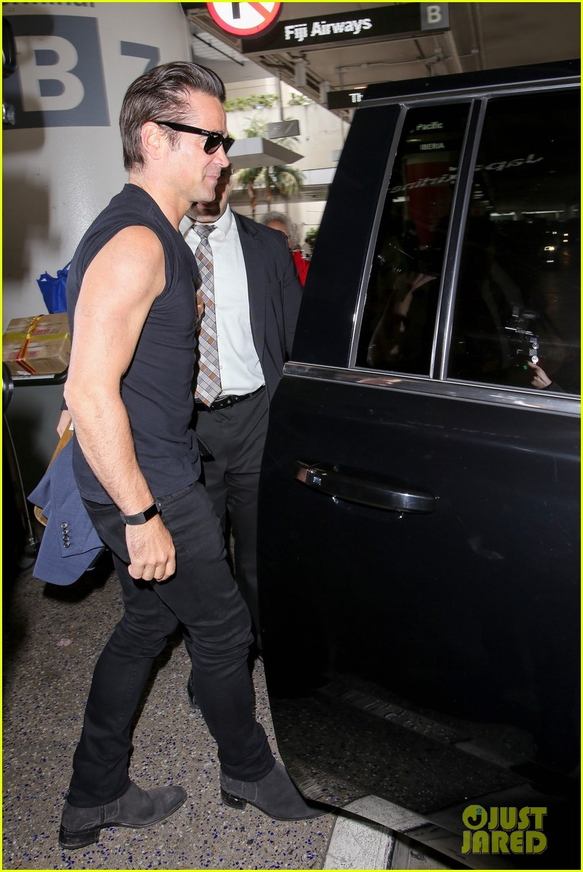 Colin farrell 39 s arm tattoos are nearly fully removed for Justin timberlake tattoos removed