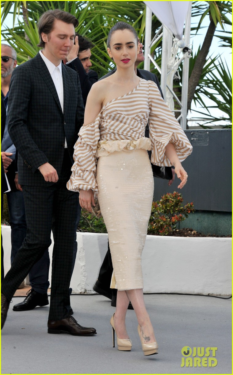 jake gyllenhaal tilda swinton lily collins debut okja at cannes film fest 053901359