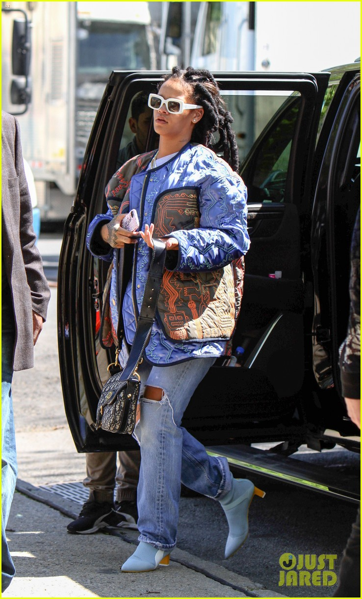 rihanna re shoots oceans eight set 013895224