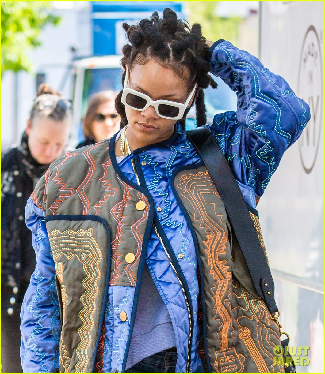 rihanna re shoots oceans eight set 043895227