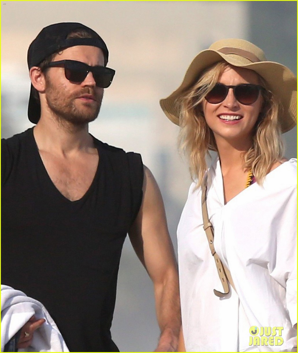 paul wesley candice king hit the beach in rio 023895357