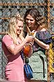hilary duff sutton foster look chic on set for younger season 4 01