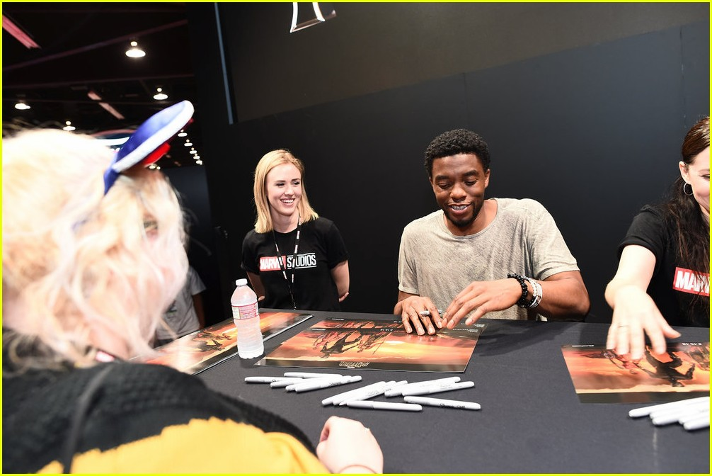 black panthers chadwick boseman meets fans at d23 expo 113928410