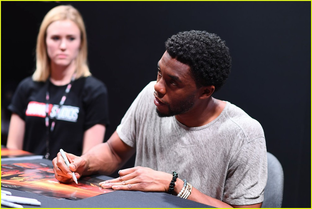 black panthers chadwick boseman meets fans at d23 expo 253928424
