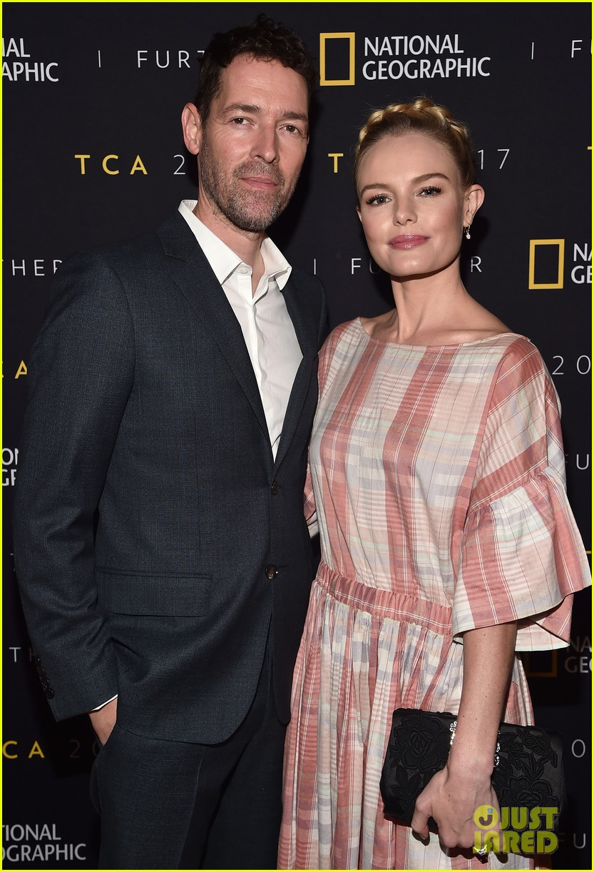 kate boswroth favorite partner in crime michael polish couple up at national geographic 153933626