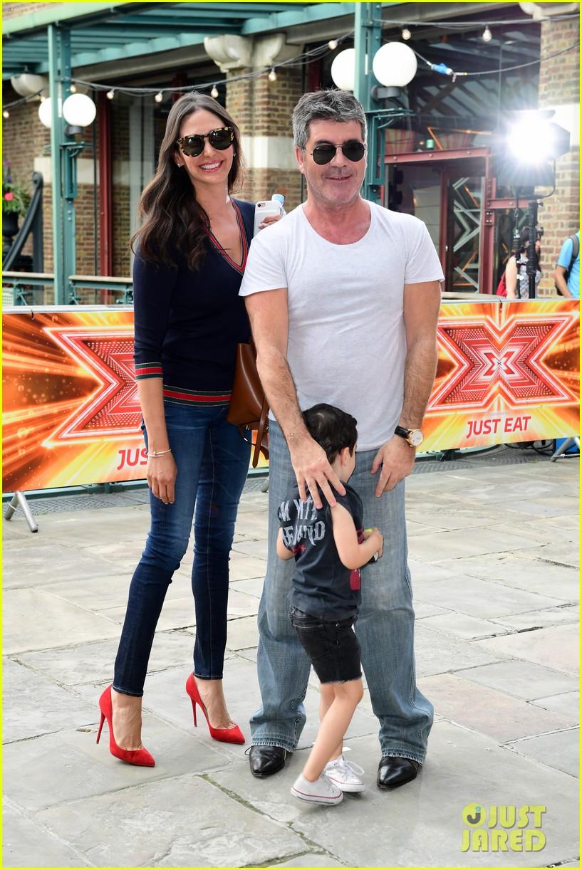 simon cowell brings son eric to x factor london photo call 023924332
