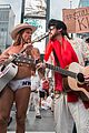 billy ray cyrus performs as still the kings burnin vernon brown in times square 06