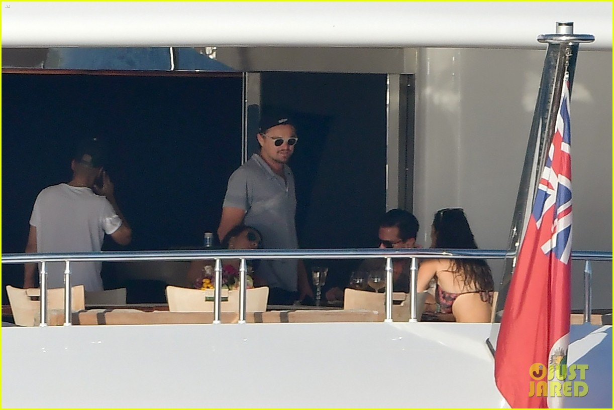 leonardo dicaprio tobey maguire relax on a yacht in st tropez 053934467