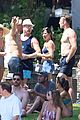 derek hough goes shirtless while paddling at julianne rehearsal party 18