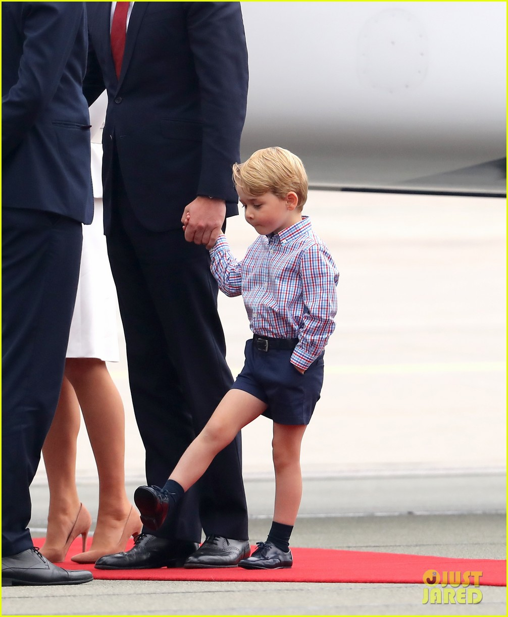 kate middleton prince william arrive in poland with george charlotte 213929260