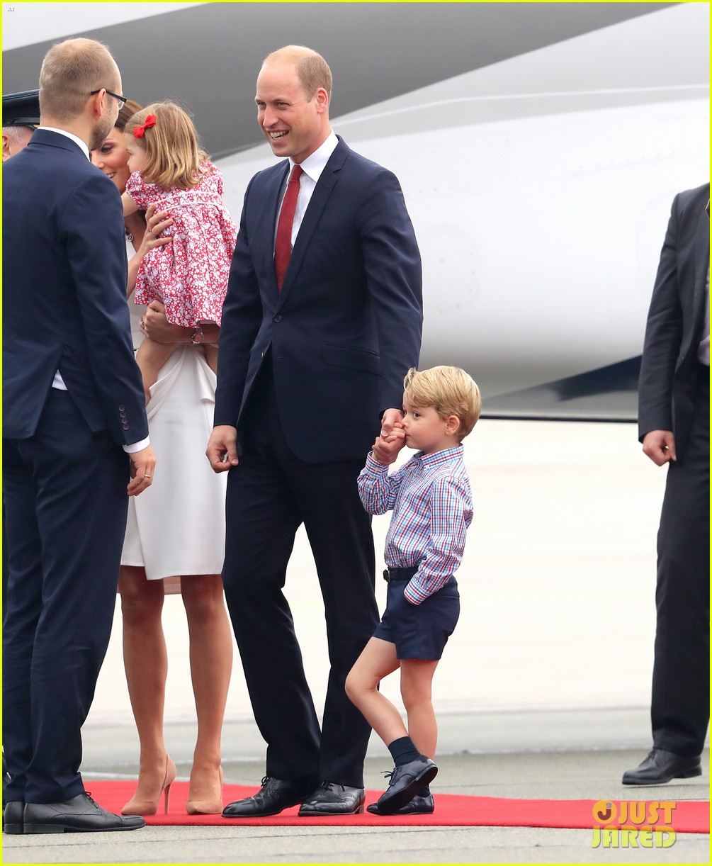 kate middleton prince william arrive in poland with george charlotte 223929261