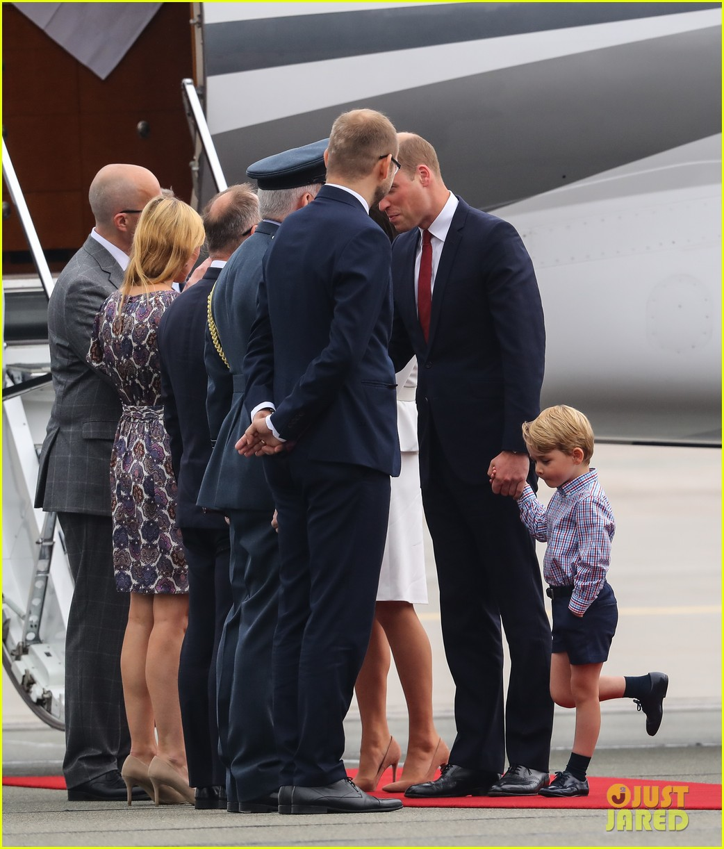 kate middleton prince william arrive in poland with george charlotte 333929272