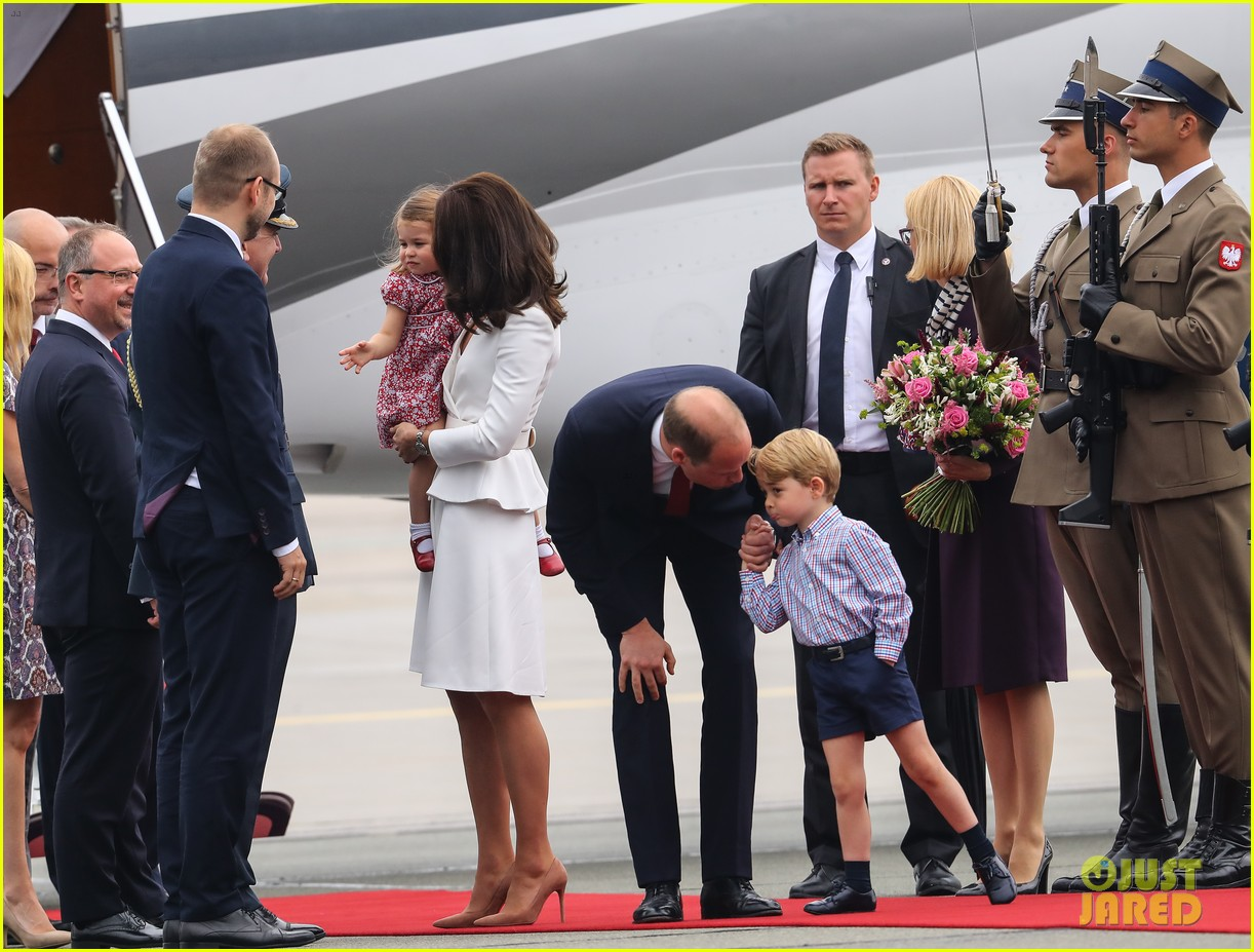 kate middleton prince william arrive in poland with george charlotte 373929276
