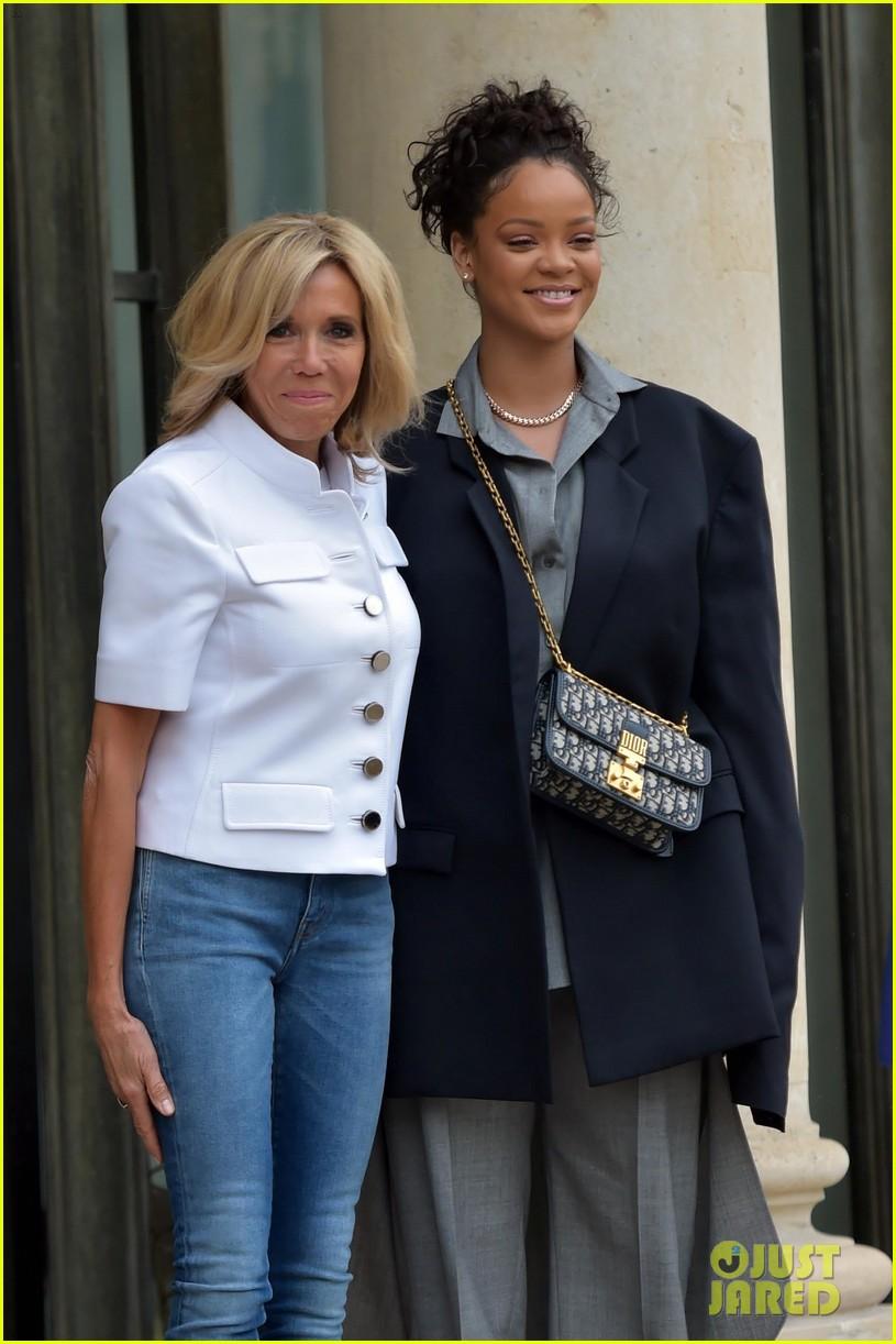 rihanna meets with french president emmanuel macron 023934076