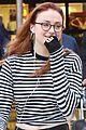 sophie turner debuts red hair in LA 03
