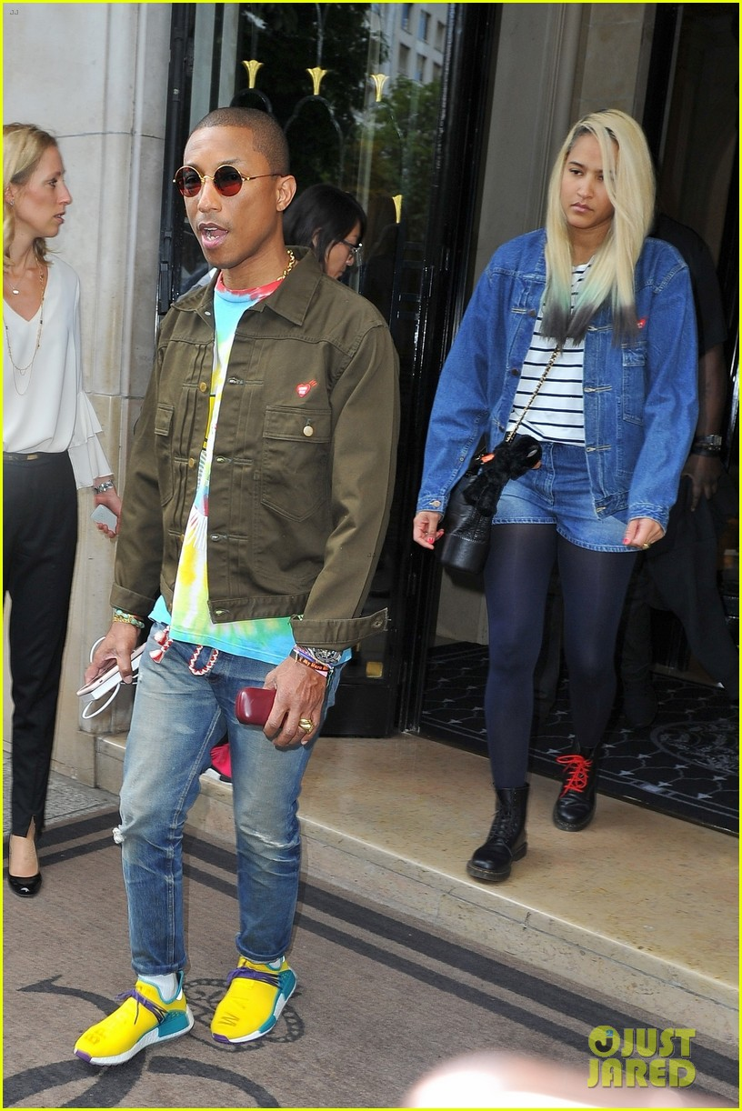 pharrell williams and wife helen lasichanh step out during paris fashion week 043923659