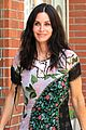 courteney cox wears leaf patterned dress 02
