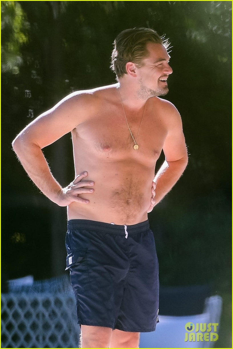 leo dicaprio goes shirtless on vacation with kate winslet 023942788
