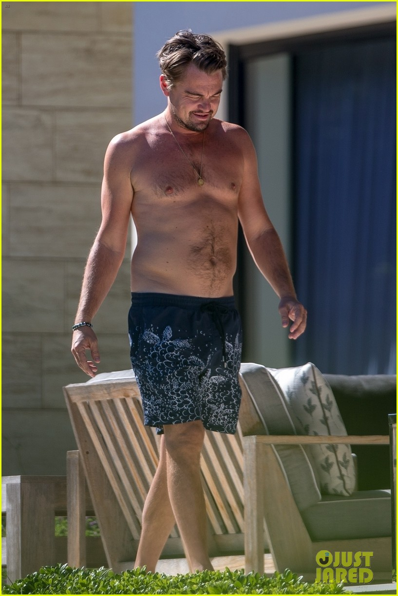 leo dicaprio goes shirtless on vacation with kate winslet 043942790