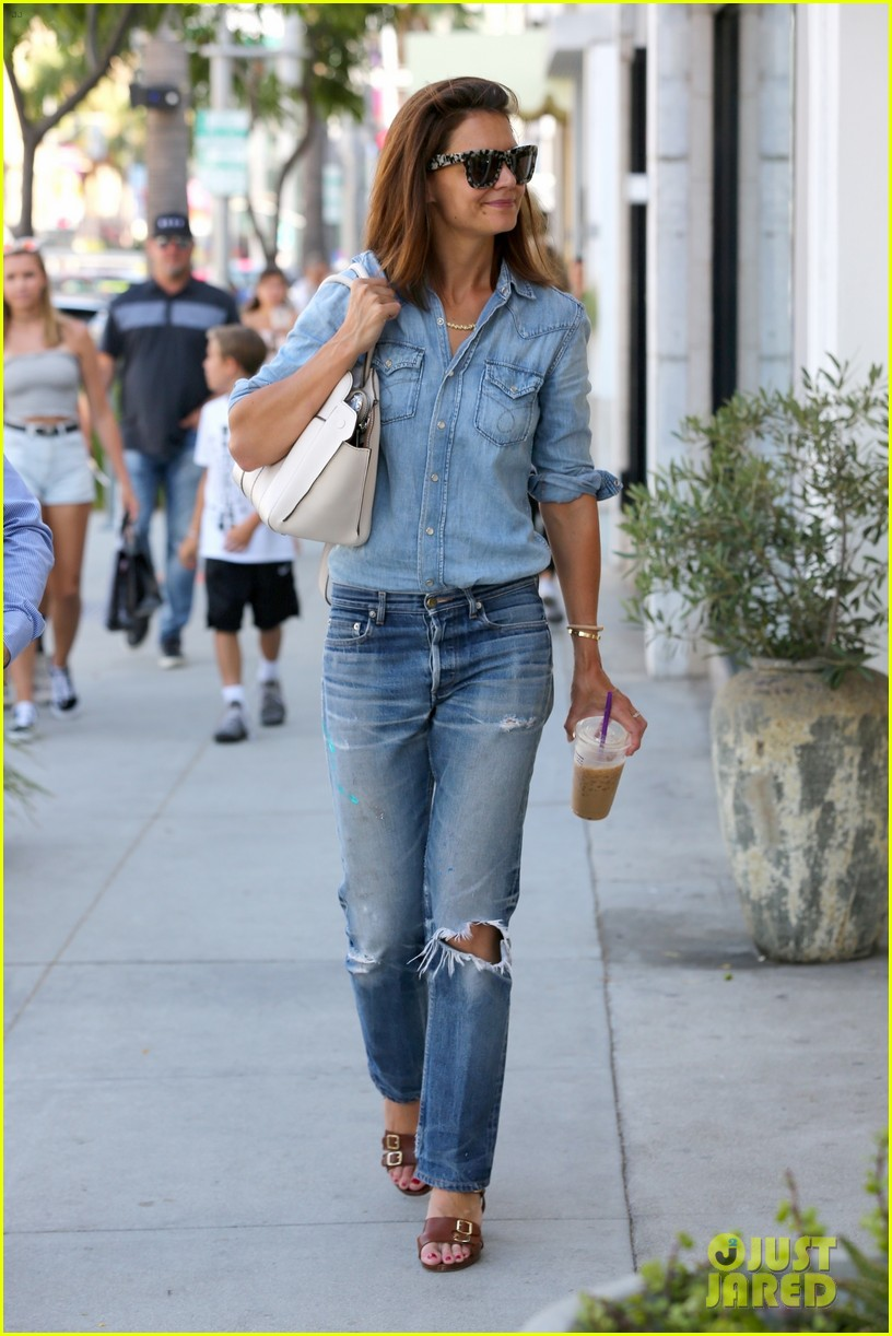 katie holmes rocks denim on denim in beverly hills 013937716